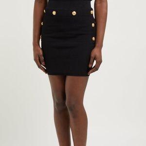 NWT Balmain High Rise Knit Ribbed Bodycon Skirt